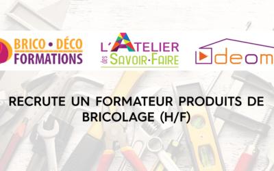 Brico Déco Formations recrute un formateur produits de bricolage H/F