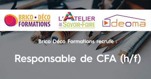 Brico Déco Formations recrute un responsable de CFA H/F